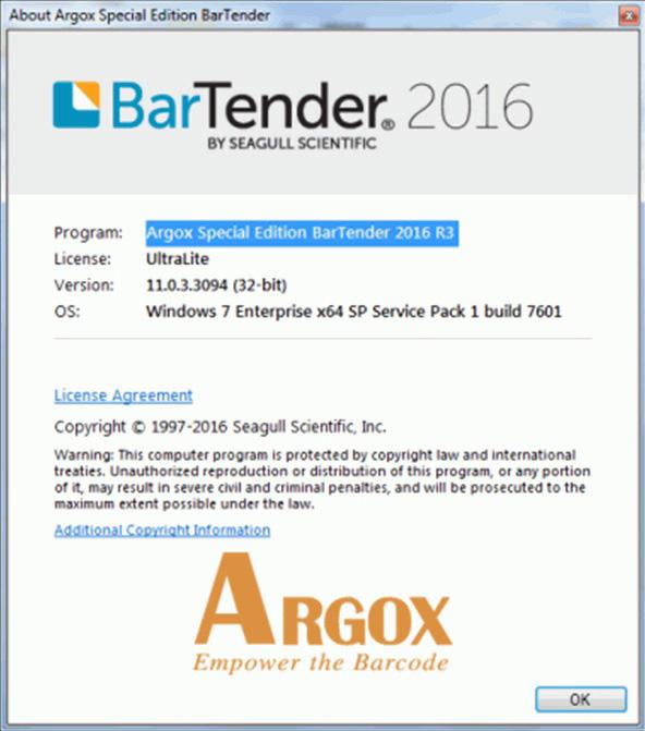 Argox Bartender
